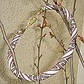Spirale crochetée grecque rose