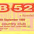 The b-52's - lundi 18 septembre 1989 - town & country club (london)