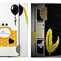 Mini-album jaune & noir (inspi les étoiles du scrap)