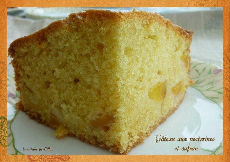 gâteau aux nectarines et safran