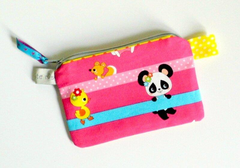 Porte monnaie pochette panda