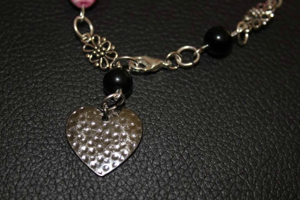 Nouveauté ! Bracelet rose et argent