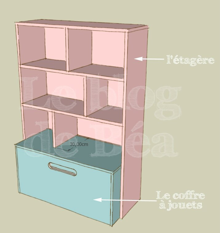 diy tag re pour chambre d 39 enfant et coffre jouets le blog de b a. Black Bedroom Furniture Sets. Home Design Ideas