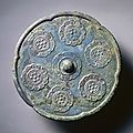 Lobed Mirror with Six Blossoms, mid 7th century, China, Tang dynasty (618-907)