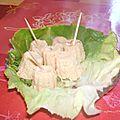 Bouchees au saumon ou variation sur la terrine de poisson