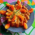 Cake : langoustines - abricots/pruneaux