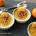 Crèmes brûlées à la clémentine et à l'érable, sans gluten et sans lactose