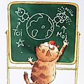 chat valentin carte voeux