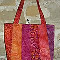 Sac batik 5 orange rouge fushia S