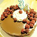 Tarte framboises-chocolat
