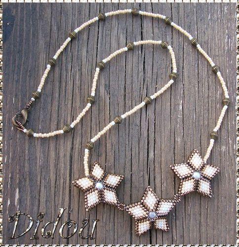 collier seeing stars bronze caramel blanc