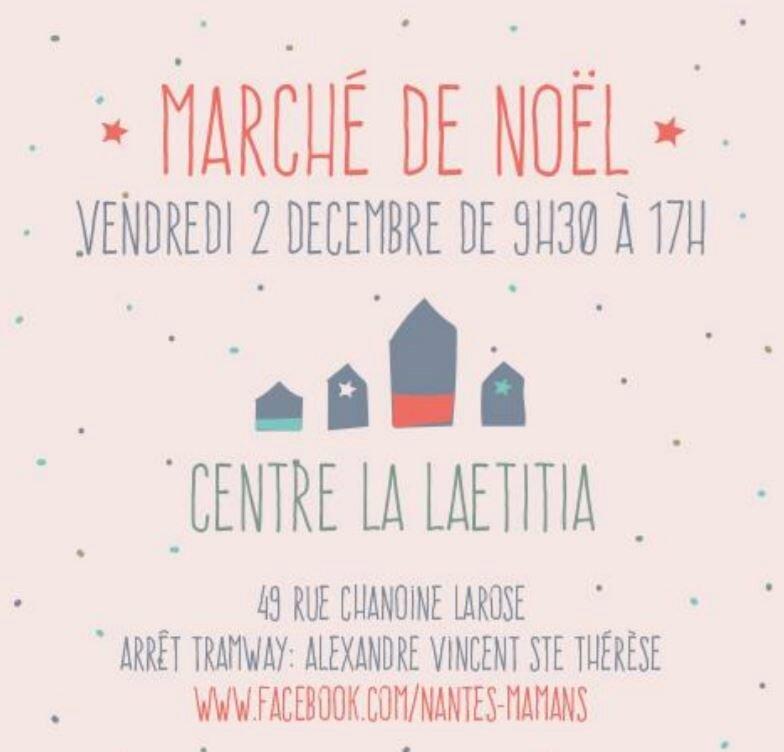 Invitation pour le marché de Noël de Nantes Maman