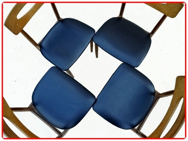 chaises scandinave samcom teck