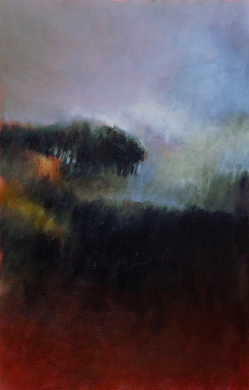 ghostrees 3, aout 207, pastel à l'huile, 48 x 32 cm