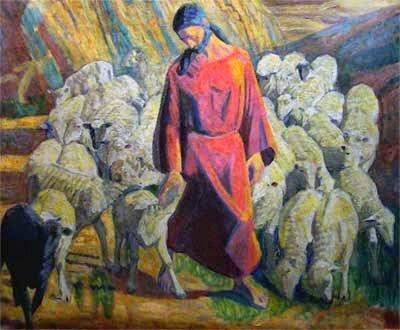 les brebis suivent le bon berger