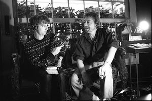 Gainsbourg avec Kévin Kratz 24 novembre 1981 © Claude Truong-Ngoc