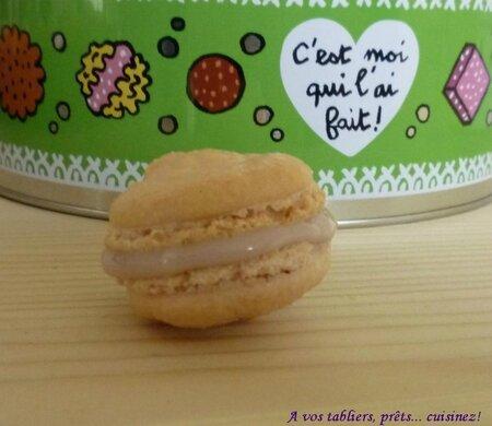 Macarons chocolat blanc sirop de violette_1
