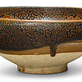 A 'Cizhou' russet-splashed black-glazed bowl, Song-Jin dynasty (960-1234)