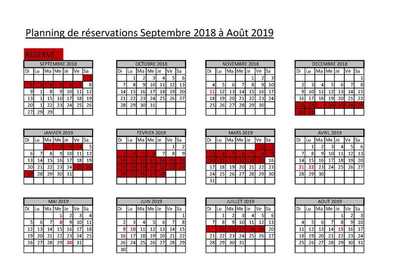 Copie de CALENDRIER RESERVATION 2018 ET 2019