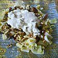 Salade waldorf après mon adaptation de la