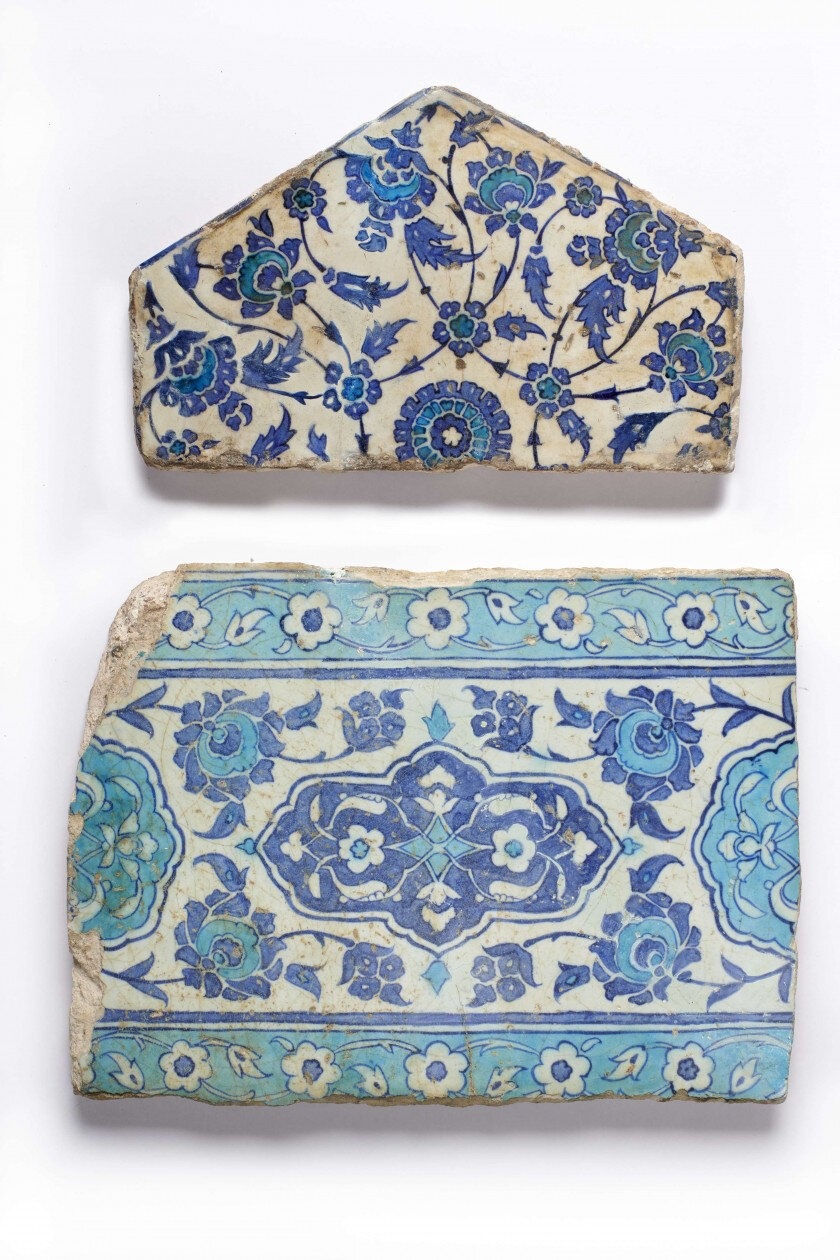c3f7ca89a11f Lot 183. Two Ottoman tiles
