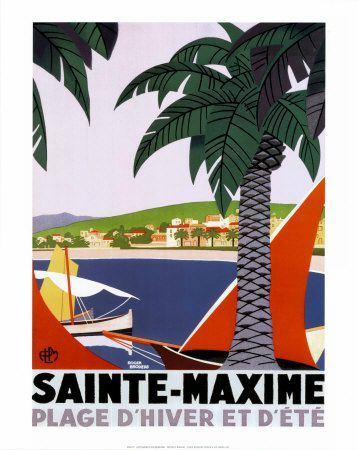 Sainte-Maxime-Affiches Roger Broders
