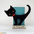 Déco vintage ... chat noir * présentoir publicitaire