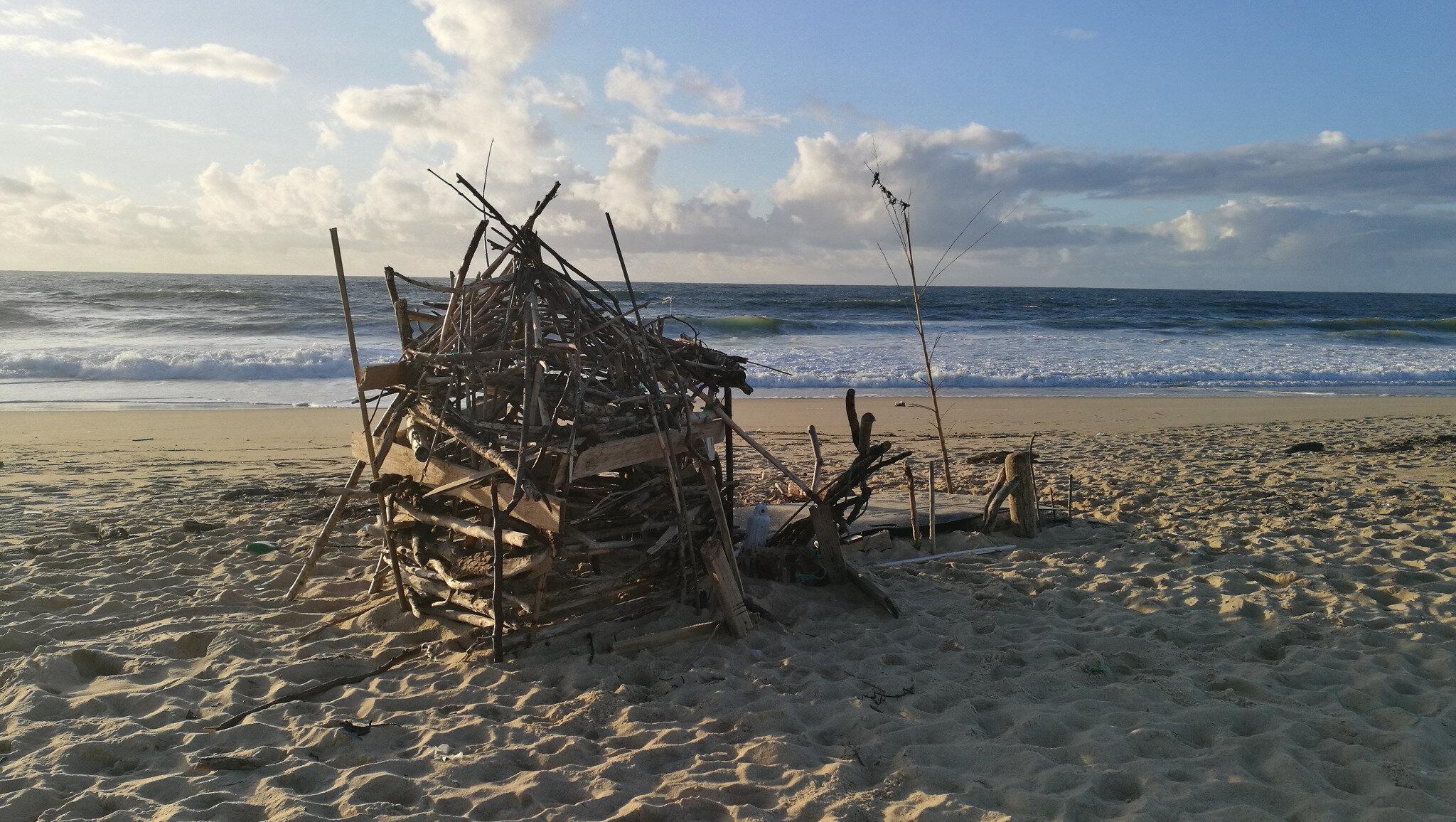 Hossegor, plage Sud, cabane