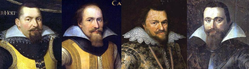 Portraits Europe du Nord 1605-1610