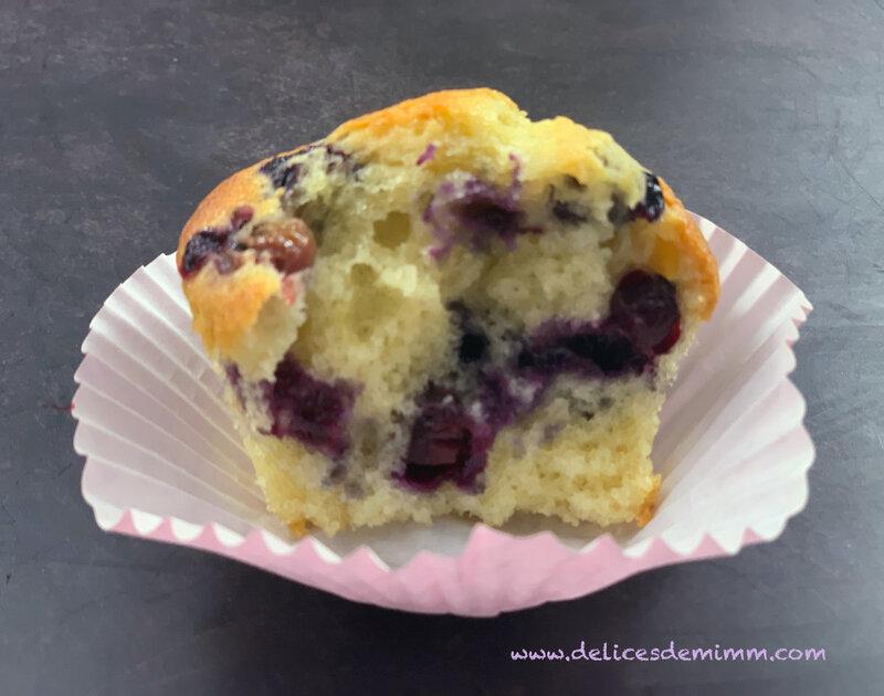 Muffins aux myrtilles et tonka 5