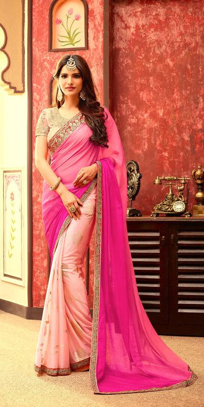 sari-rose-bollywood-indien
