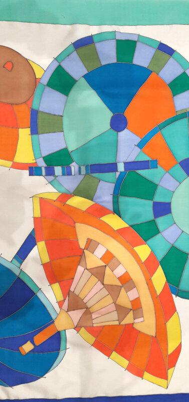 couleurs thermofixables sur twill de soie