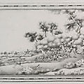 An en-grisaille decorated 'european subject' plaque, qing dynasty, qianlong period (1736-1795)