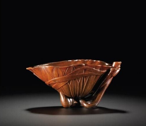 A 'Lotus Leaf' Rhinoceros Horn Libation Cup, 17th Century