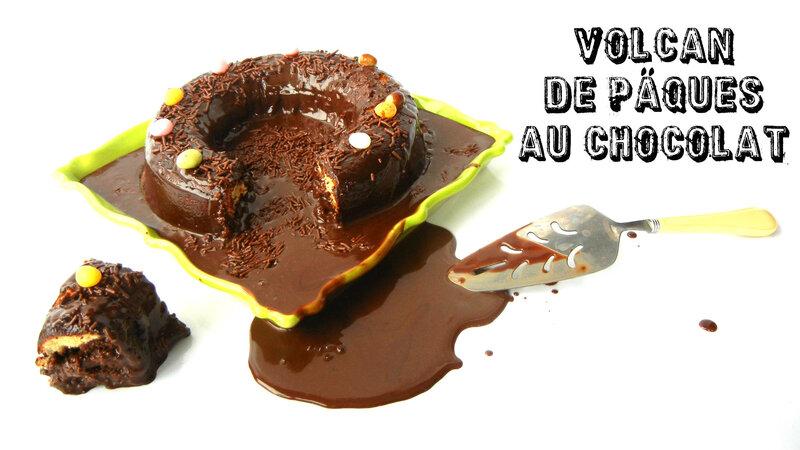 vignette gateau volcan au chocolat pour paques prunillefee