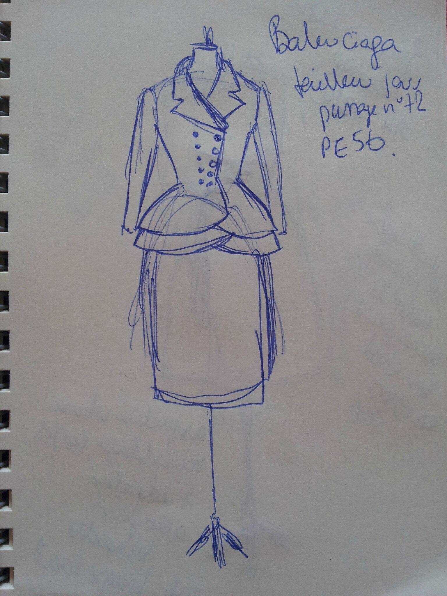 Balenciaga tailleur jour PE 56