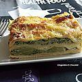 Lasagne au brocoli et jambon de poulet