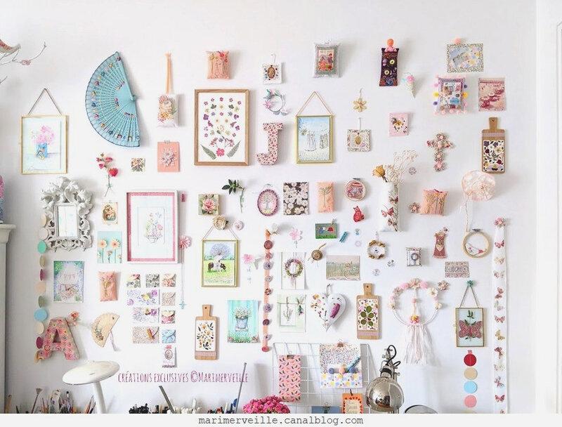 Créations ©marimerveille defi mood board floral 3