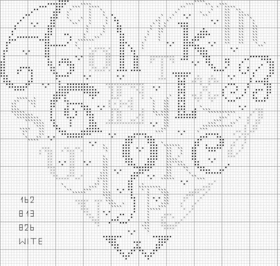 alphabet heart sampler rose