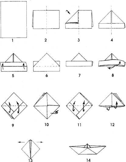 Fait A La Maison Origami Bateau Larpin A La Moutarde