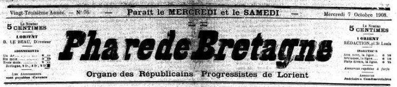 Presse Le Phare de Bretagne 1908_1