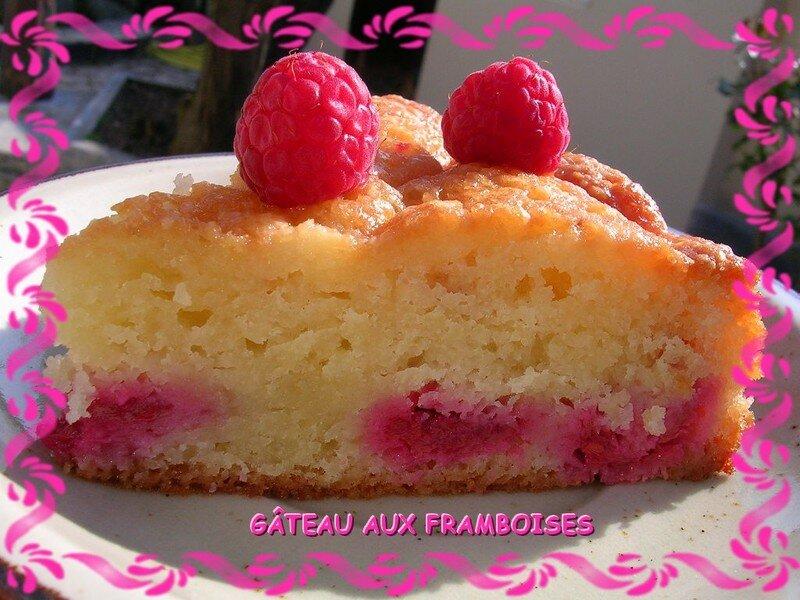 Gâteau Fondant Amandes Et Framboises Pour Utiliser Ses Blancs D