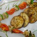 Brochettes de poulet au yahourt du midi et sa salade de restes de terre et de mer.