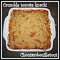 Crumble tomate knacki
