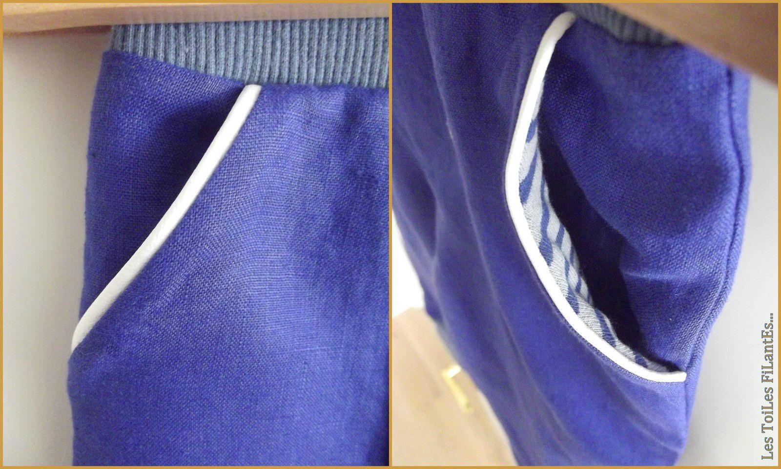 02-Ensemble pantalon bleu klein à pont2