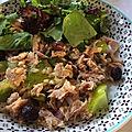 Salade de thon et tomate verte