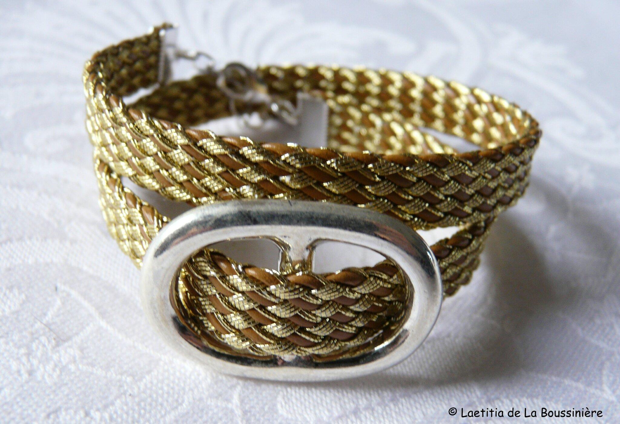 Bracelet Grain de Café (doré)-001