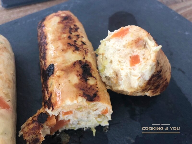 boudin blanc de poulet carotte poireau 016
