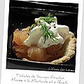 Timbales de saumon gravlax mousse à la moutarde et à l'aneth