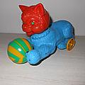 00779 jouet a tirer : chat sur roulette marque inconnue